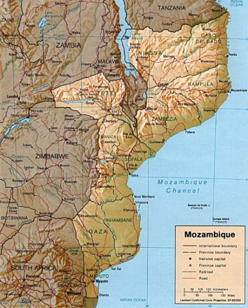Piantina Mozambico