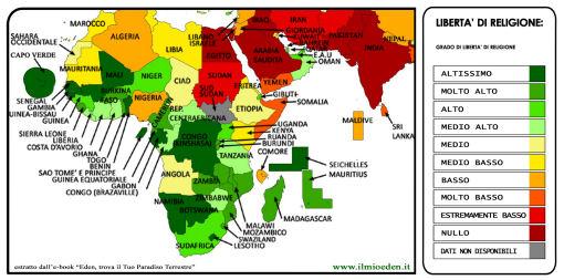 Mappa mondiale della libert di religione voglio vivere cos for Costo medio dell aggiunta della suite