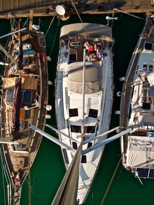 Una famiglia in barca