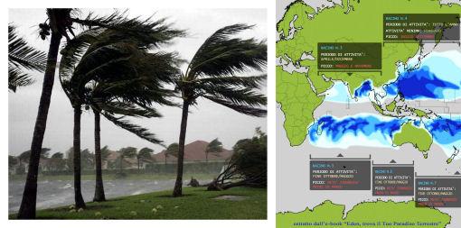 dove non ci sono uragani mappa
