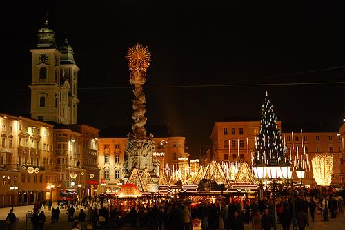 Linz di notte austria