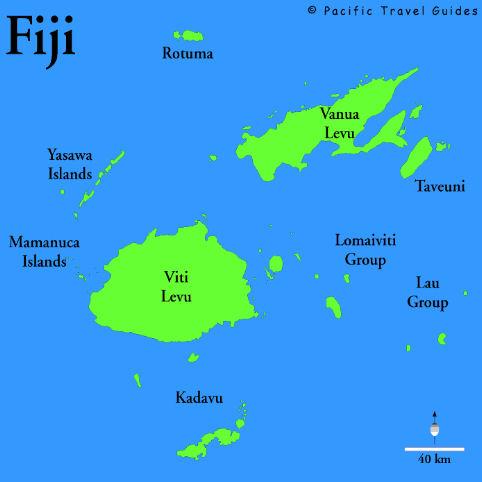 Cartina delle Fiji