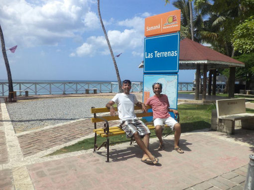 Andrea e Giuseppe: Las Terrenas, Repubblica Dominicana semplicità