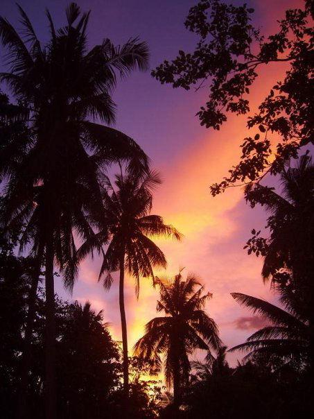Tramonto alle Filippine