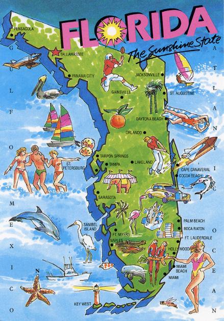Mappa Florida