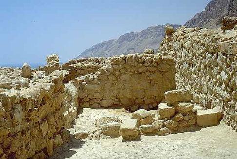 Rovine di Qumran deserto