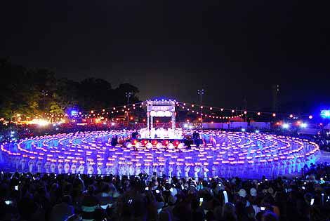 Yamaga, Yamaga Tooroo, Danza delle Lanterne. fukuoka