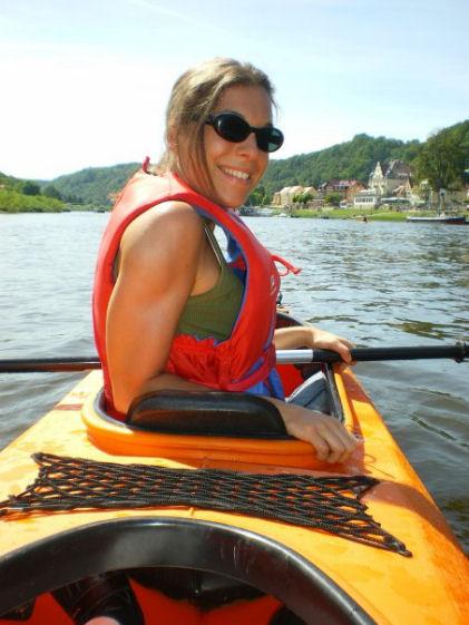 MANUELA GALLINA in canoa a Dresda