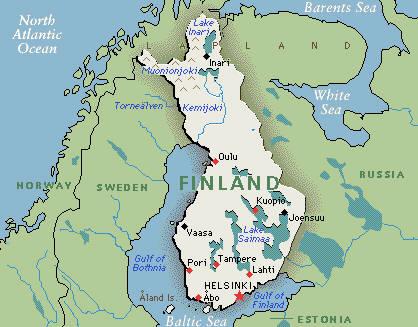 Mappa Finlandia