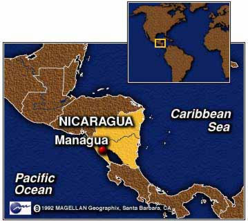 vivere in Nicaragua mappa