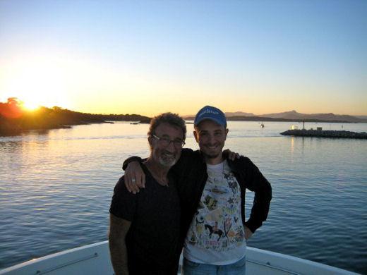 Luca Pachetti con Eddie Jordan buskers