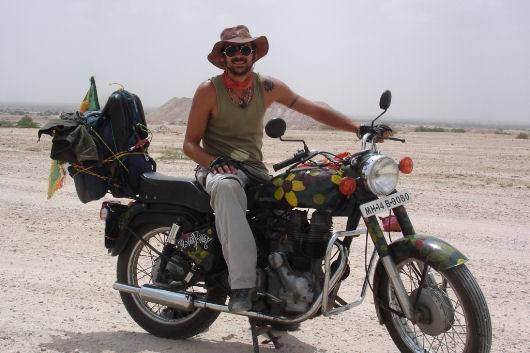 Sebastiano Ramello in moto giramondo