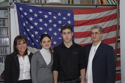 Roberto Bonzio e famiglia frontiera