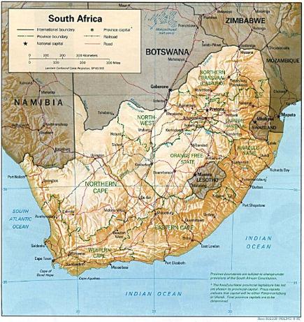 Cartina Sud Africa investimenti immobiliari