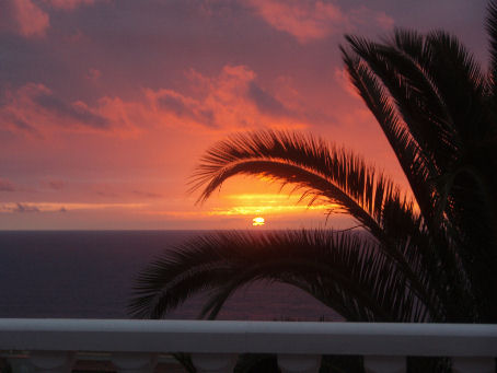 Tramonto alle isole Canarie