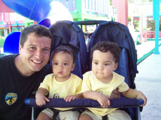 Christian Villi con i figli bahamas