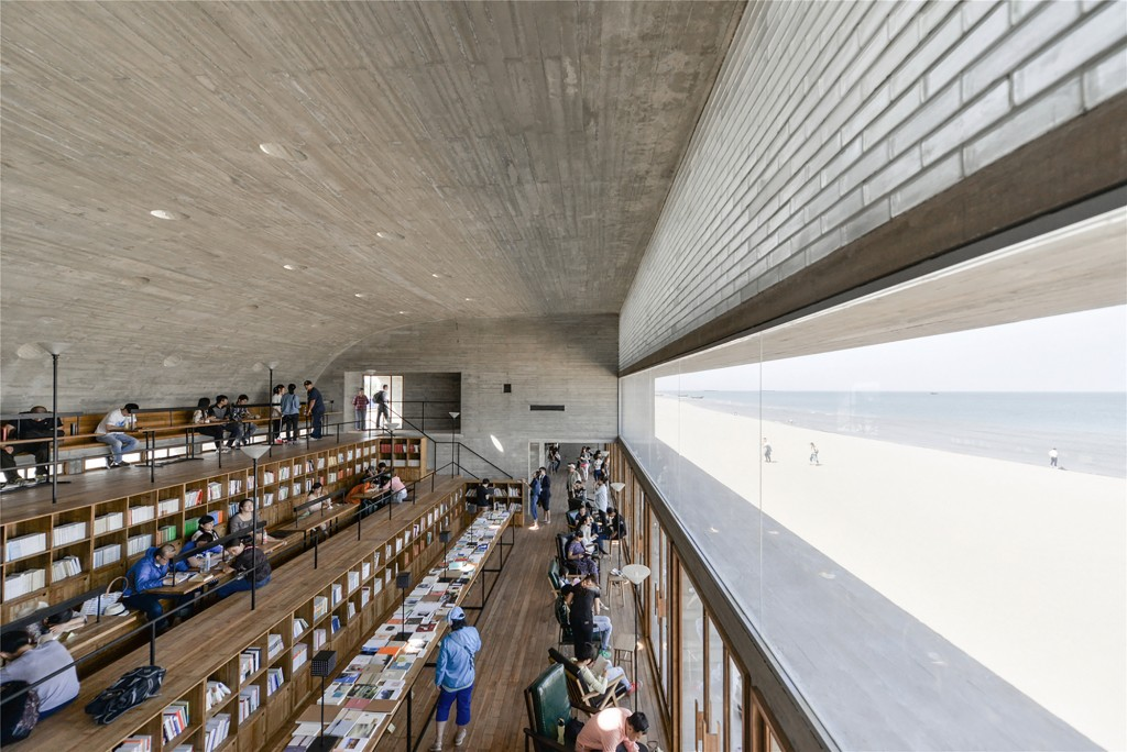libreria in spiaggia - cina