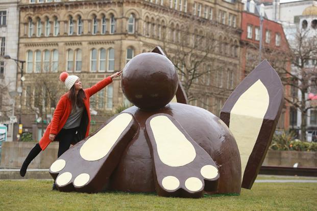 coniglio di cioccolato a londra
