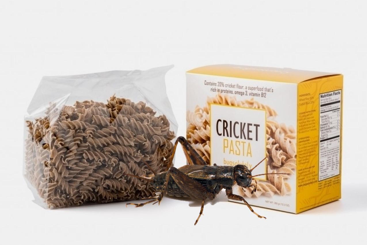 pasta francese con gli insetti