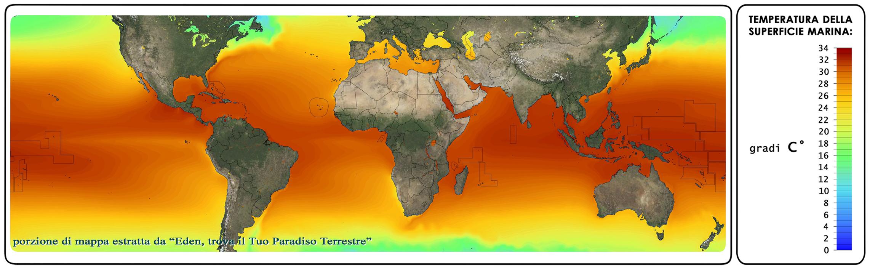 temperatura del mare mappa