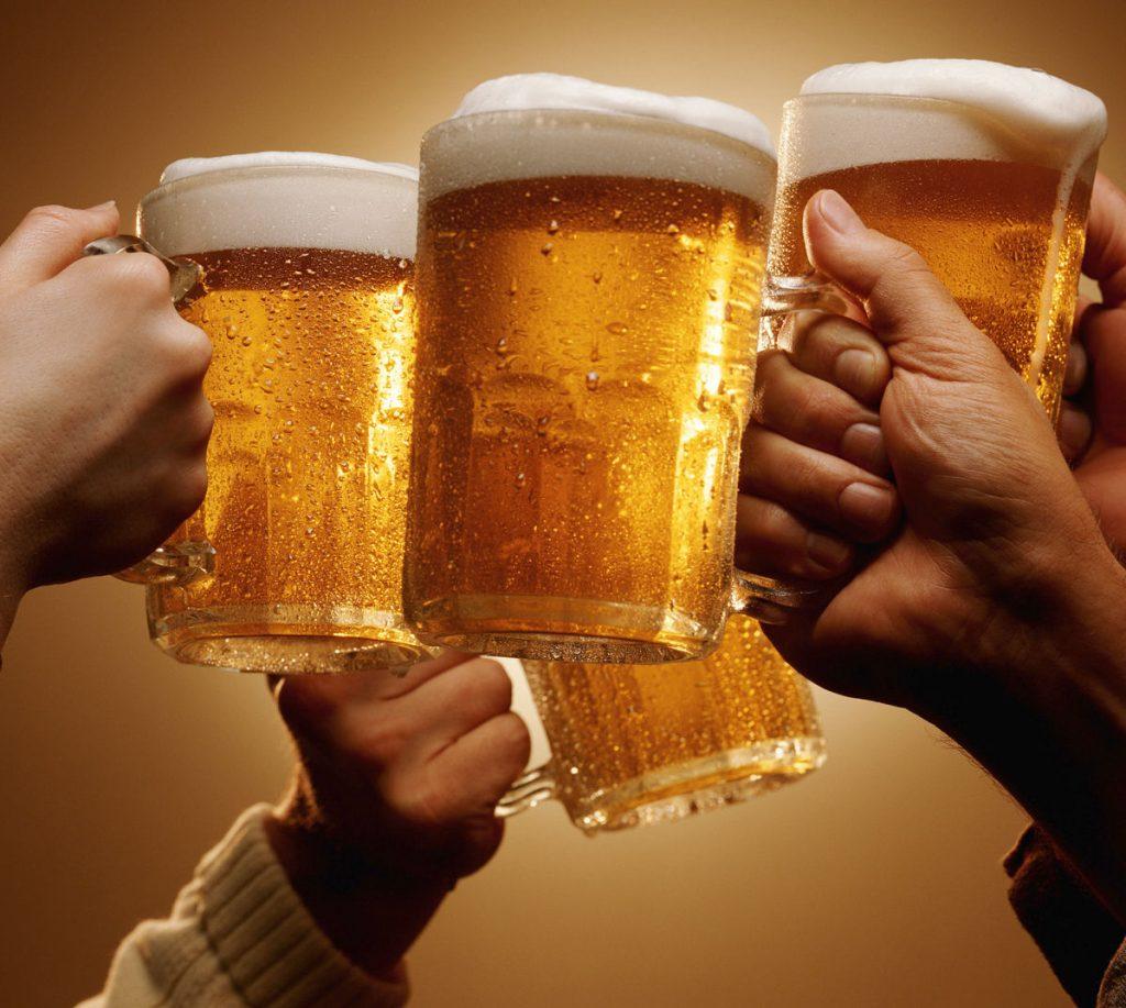 bere birra per lavoro