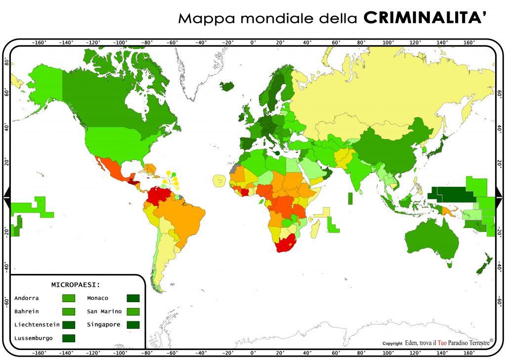 mappa della criminalità nel mondo