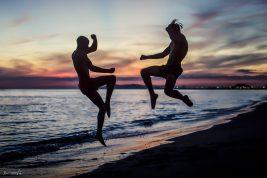 beach 7 Muay thai jump knew