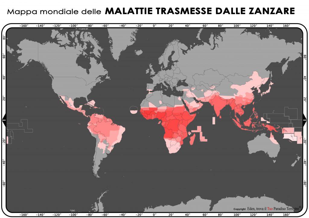 Mappa mondiale delle malattie trasmesse dalle zanzare