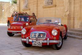 Raduno di auto d'epoca a Malta