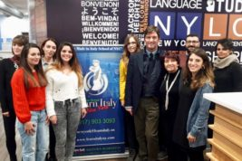 I ragazzi di Learn Italy con Luca Rigoni e Silvana Mangione