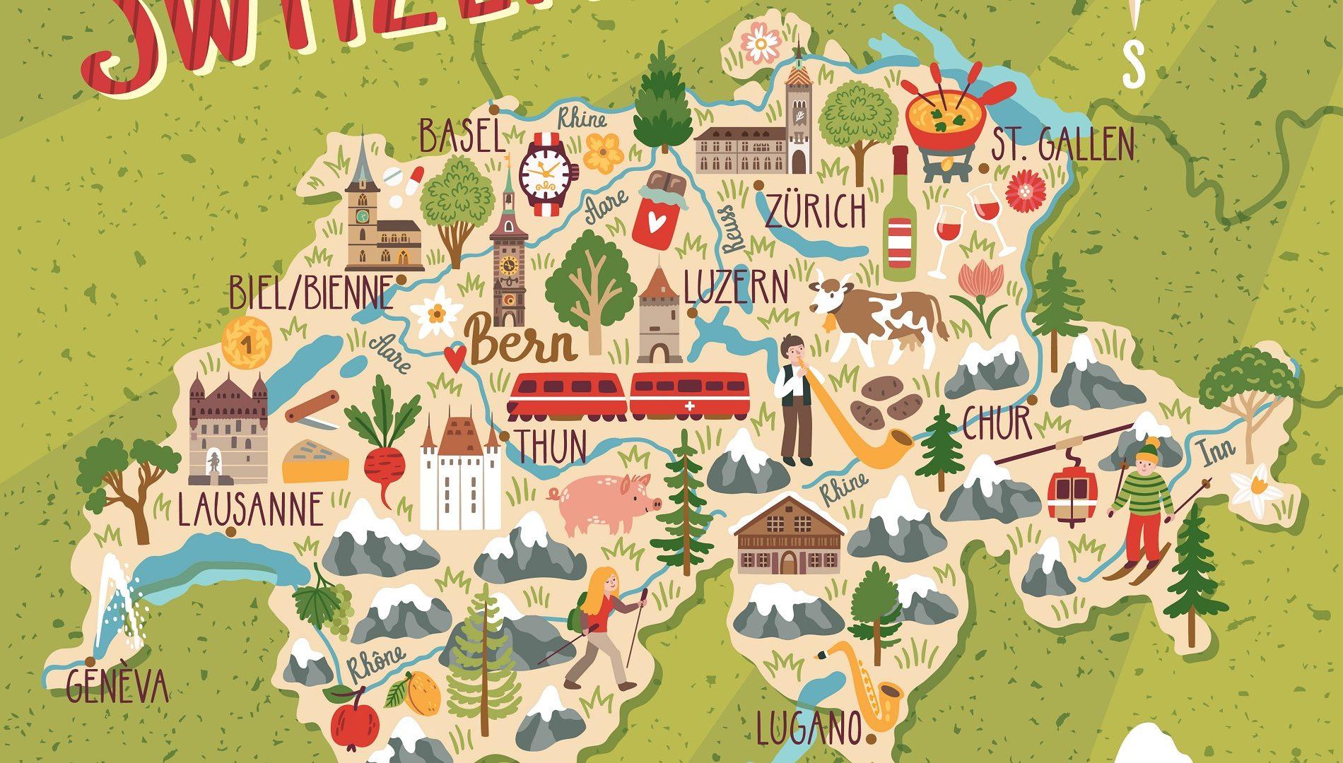 Cartina Cantoni Della Svizzera.Vivere In Svizzera Guida Completa E Consigli Utili