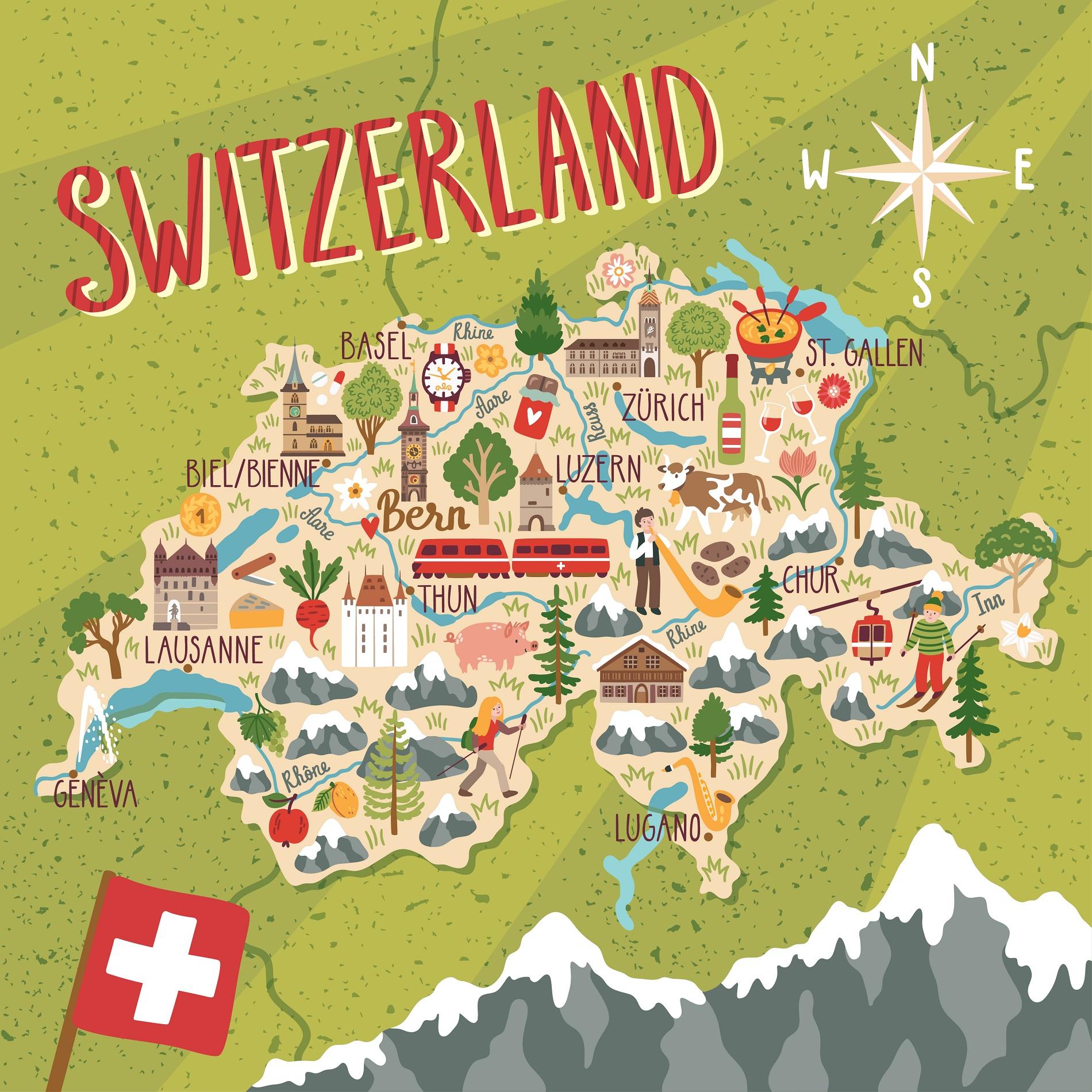 Cantoni Cartina Politica Svizzera.Vivere In Svizzera Guida Completa E Consigli Utili