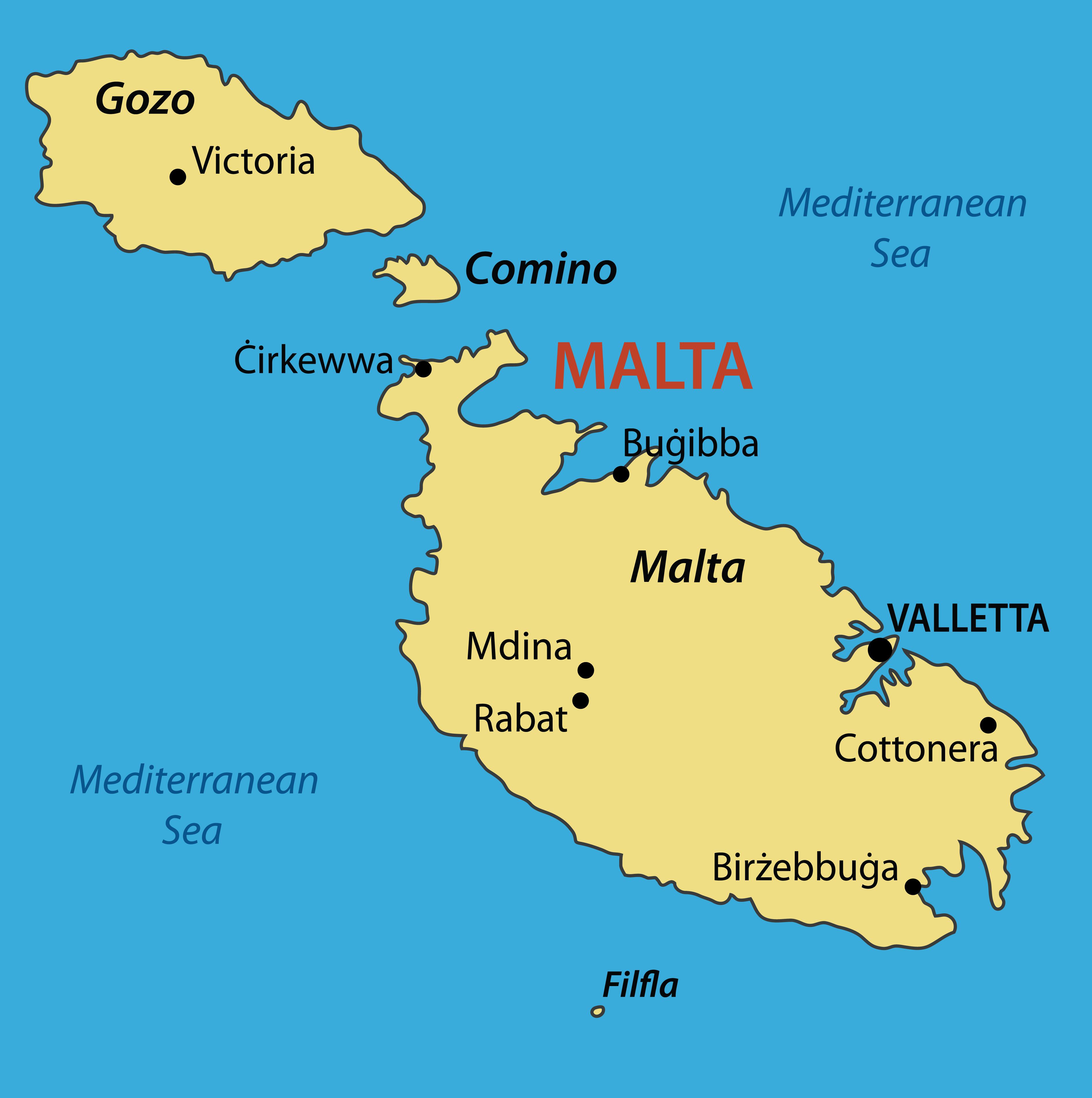 MAPPA DI MALTA CARTINA