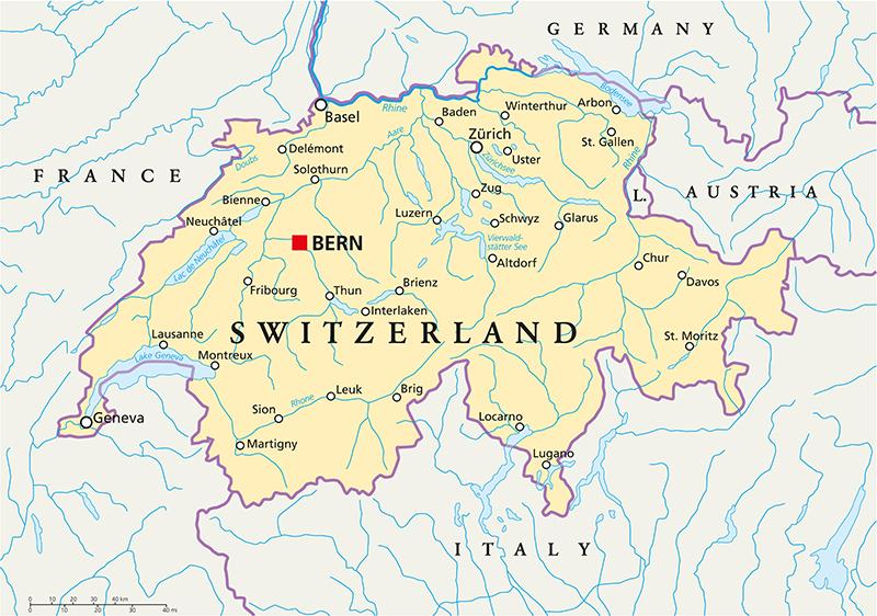 La Cartina Geografica Della Svizzera.Vivere In Svizzera Guida Completa E Consigli Utili