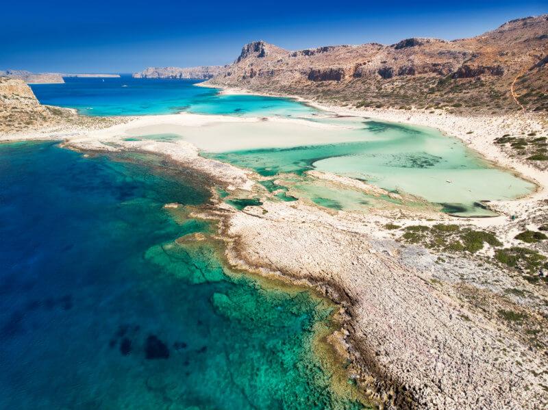 spiaggia balos lagoon, creta - spiagge più belle del mondo