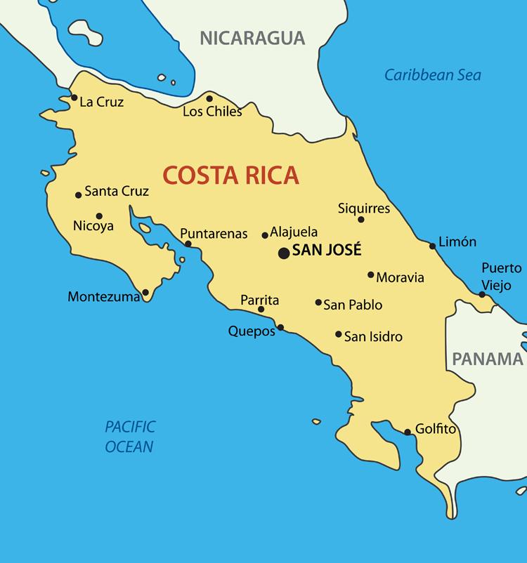 MAPPA COSTA RICA