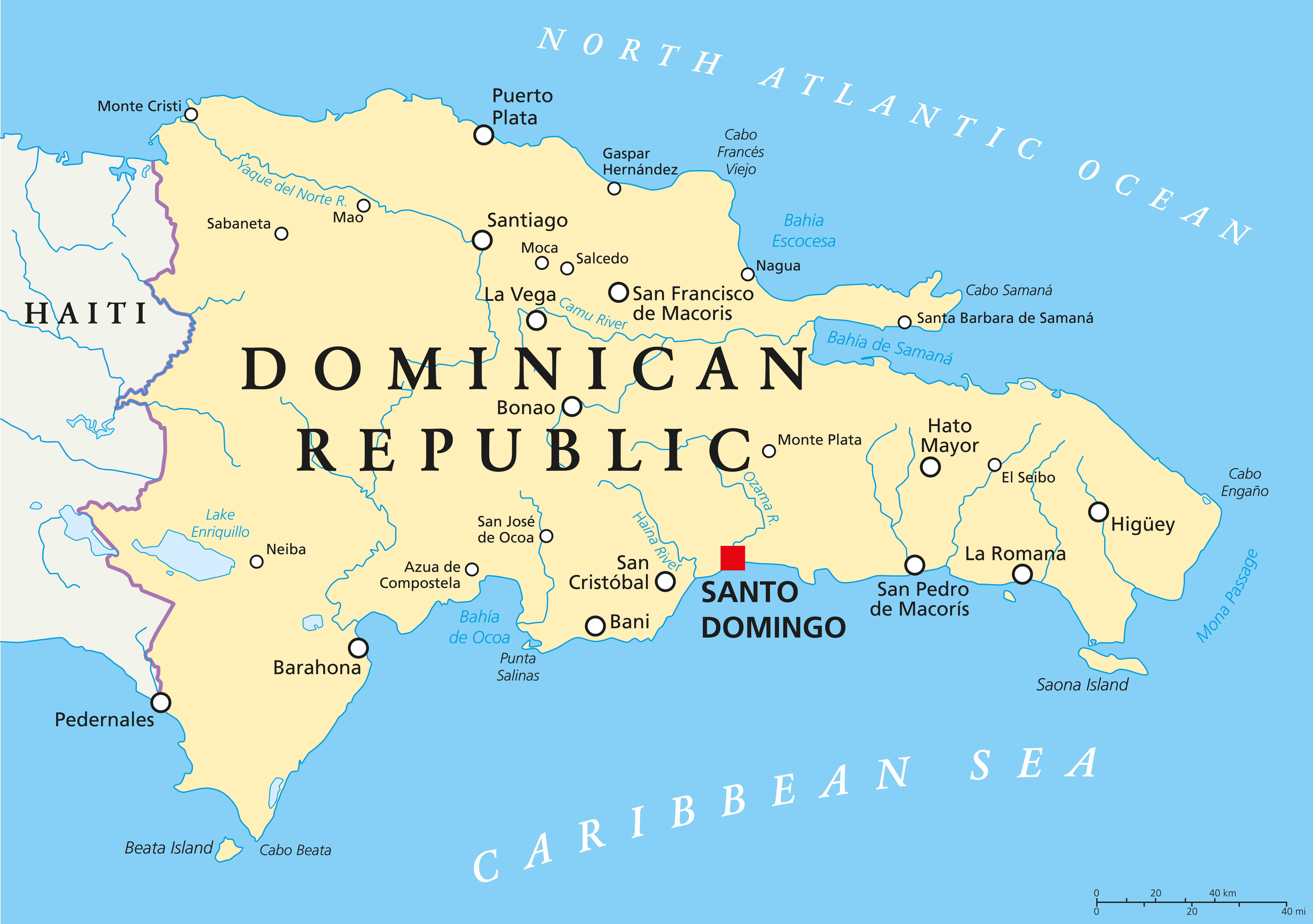 MAPPA REPUBBLICA DOMINICANA