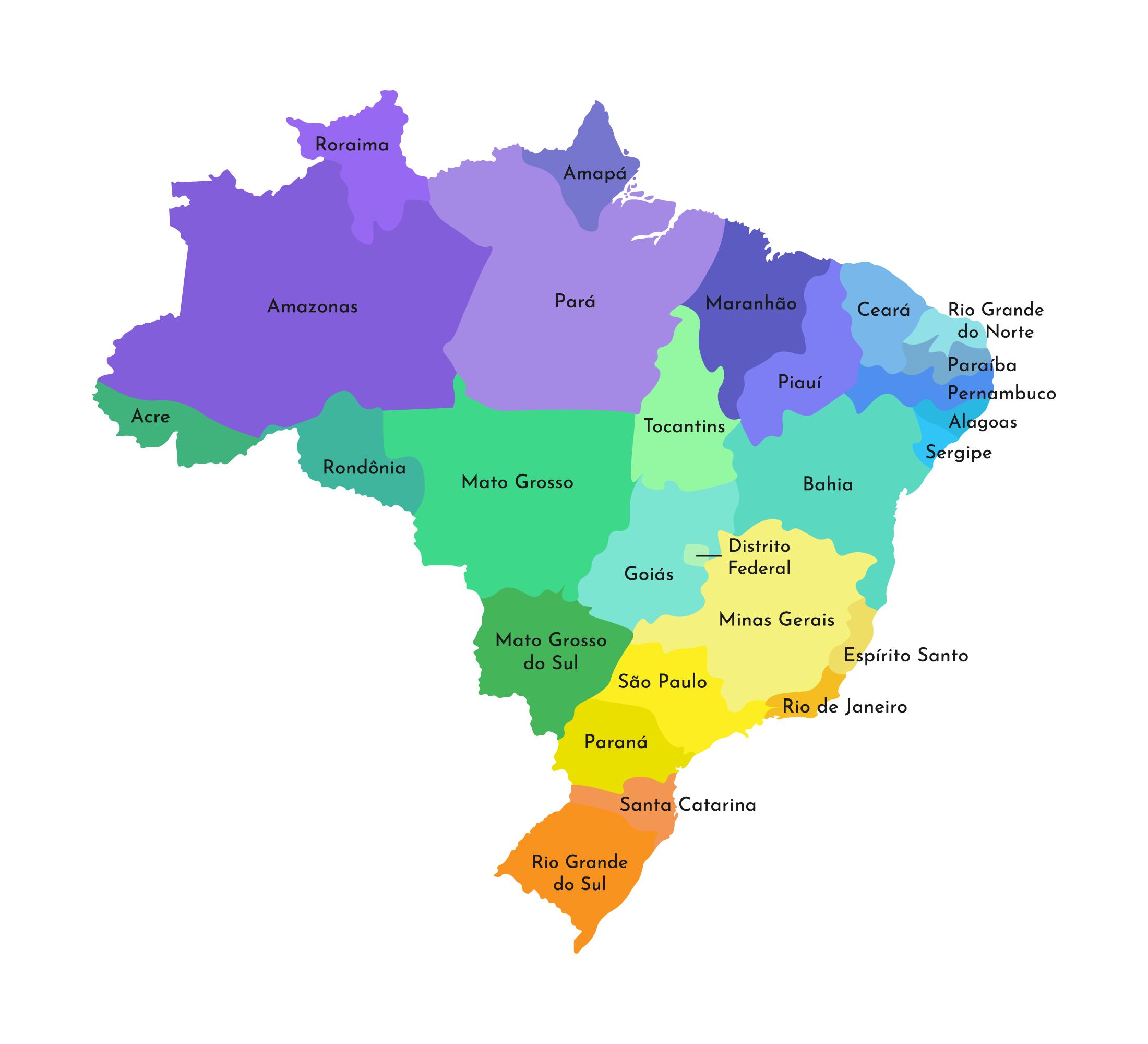MAPPA DEL BRASILE