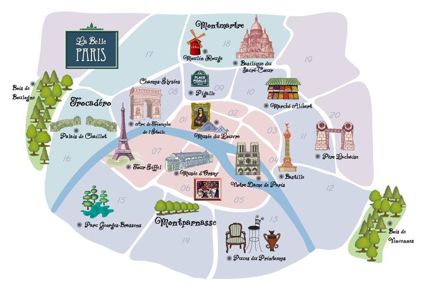 Cartina Parigi Con Quartieri.Guida Per Vivere A Parigi Info E Consigli Utili