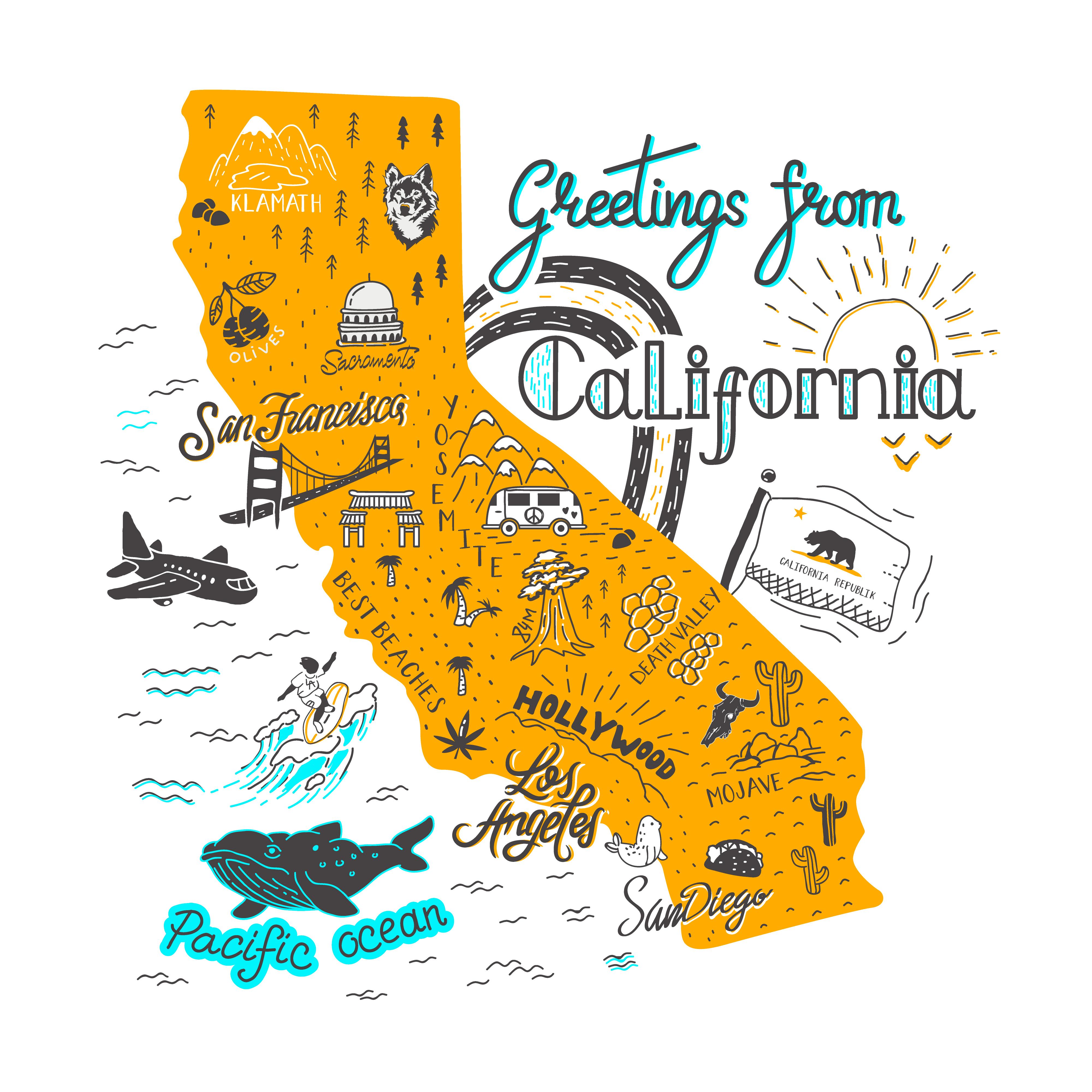mappa california