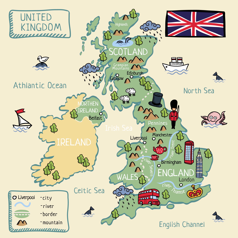 Cartina Inghilterra Per Bambini.Studiare In Inghilterra La Guida N 1 Per Gli Italiani