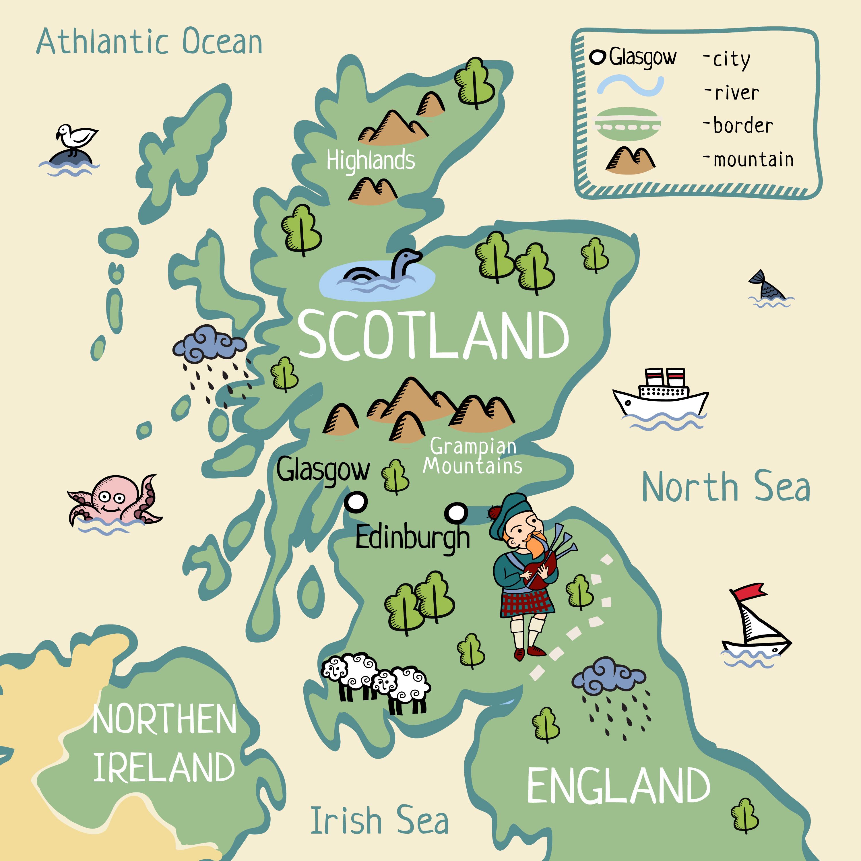 La Cartina Della Scozia.Vivere In Scozia Costo Della Vita Pro E Contro E Altre Info Utili