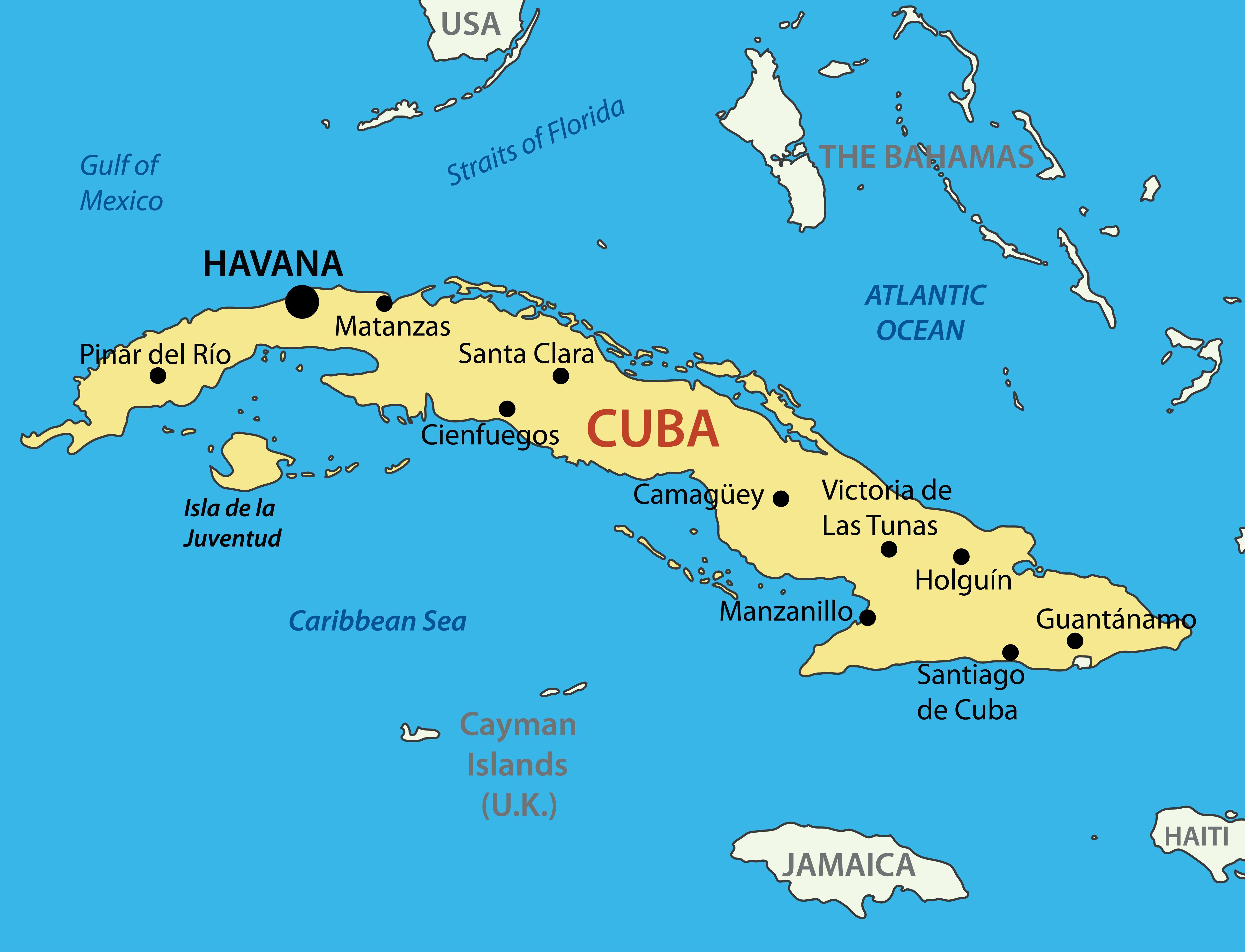 MAPPA DI CUBA