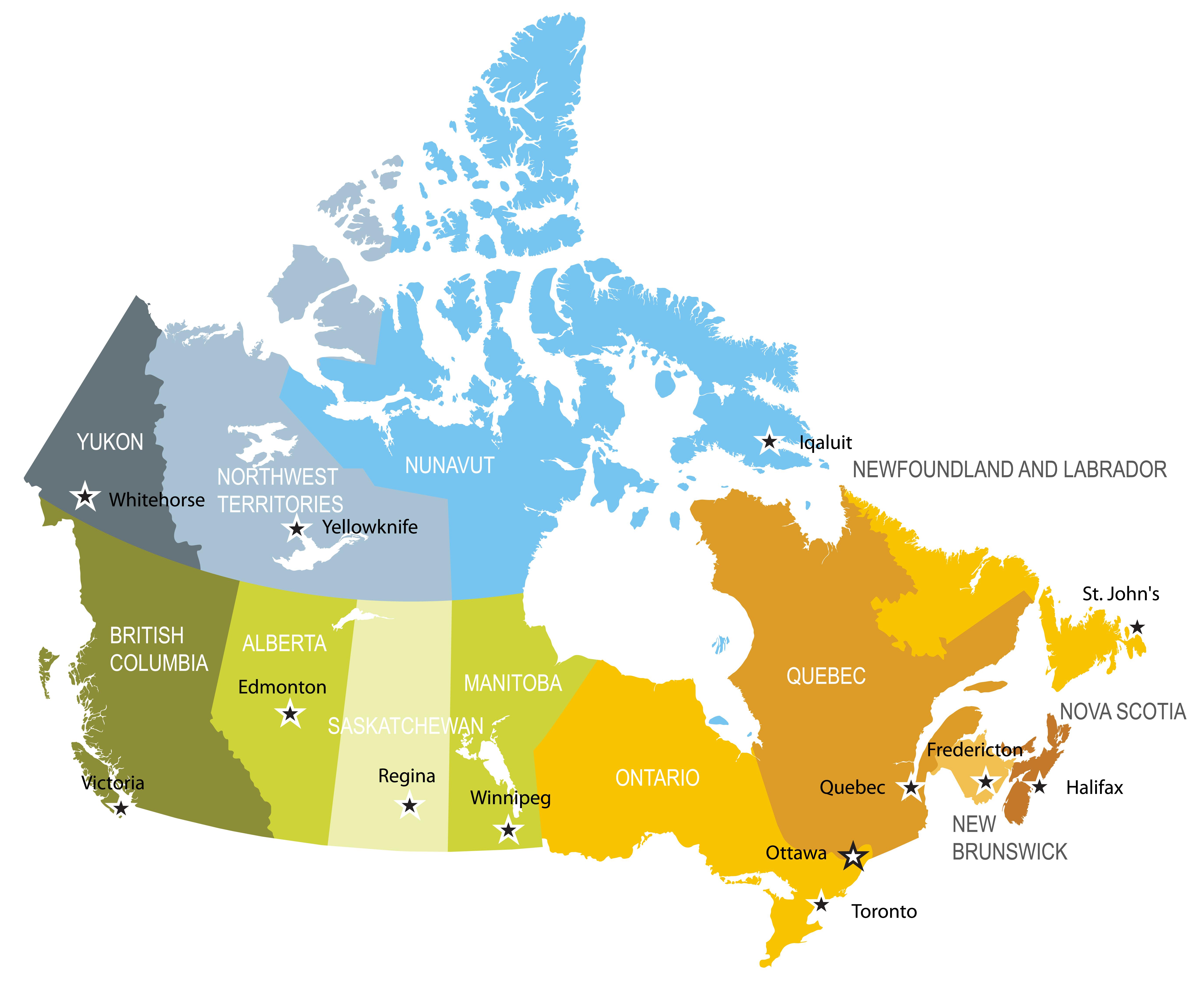 LAVORO IN CANADA MAPPA