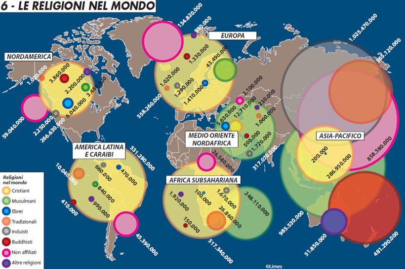 RELIGIONI MONDO MAPPA