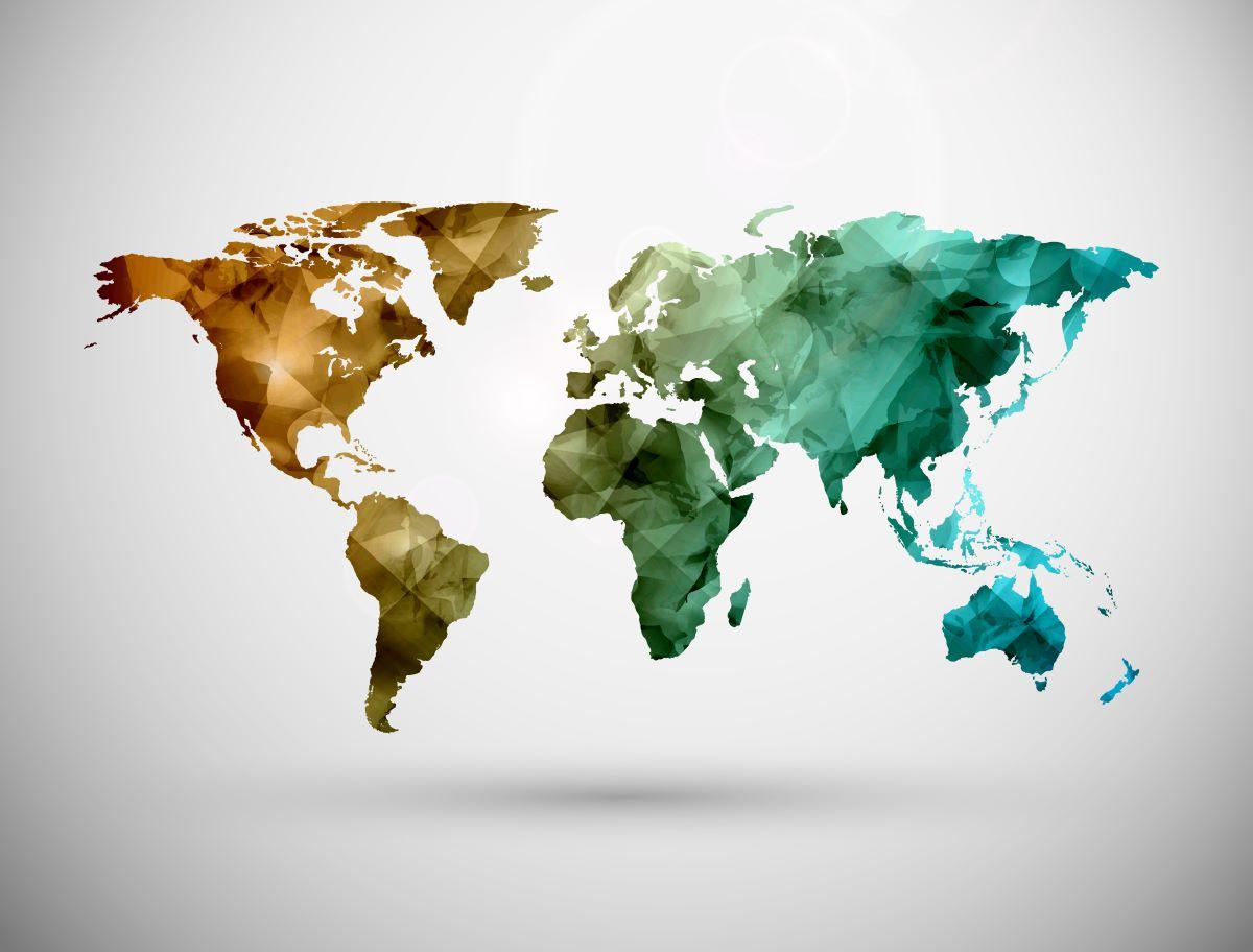 mappa stilizzata mondo