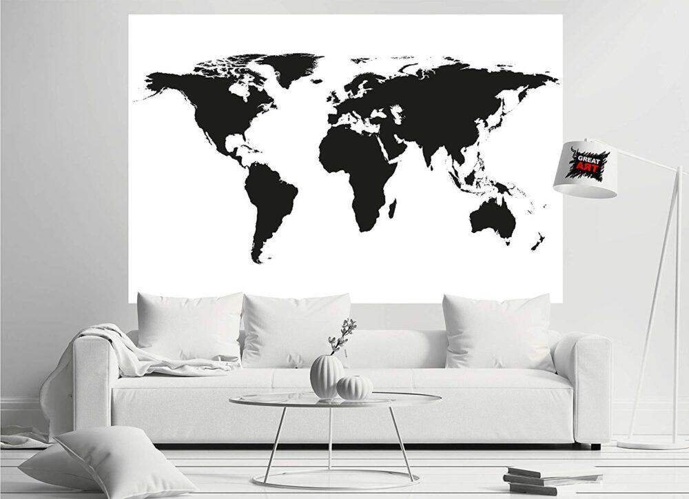 carta da parati con la mappa del mondo