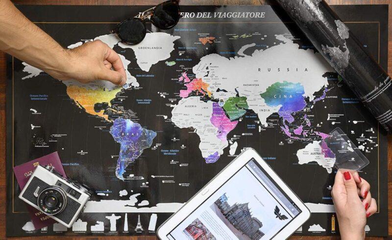 mappa mondo da grattare