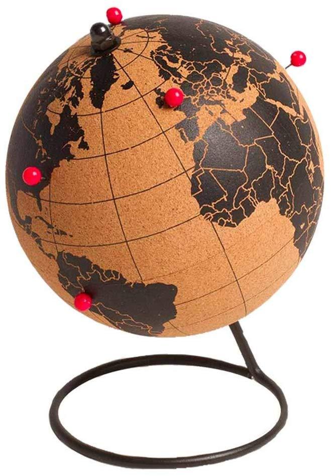 mappamondo in sughero - regalo per chi ama viaggiare