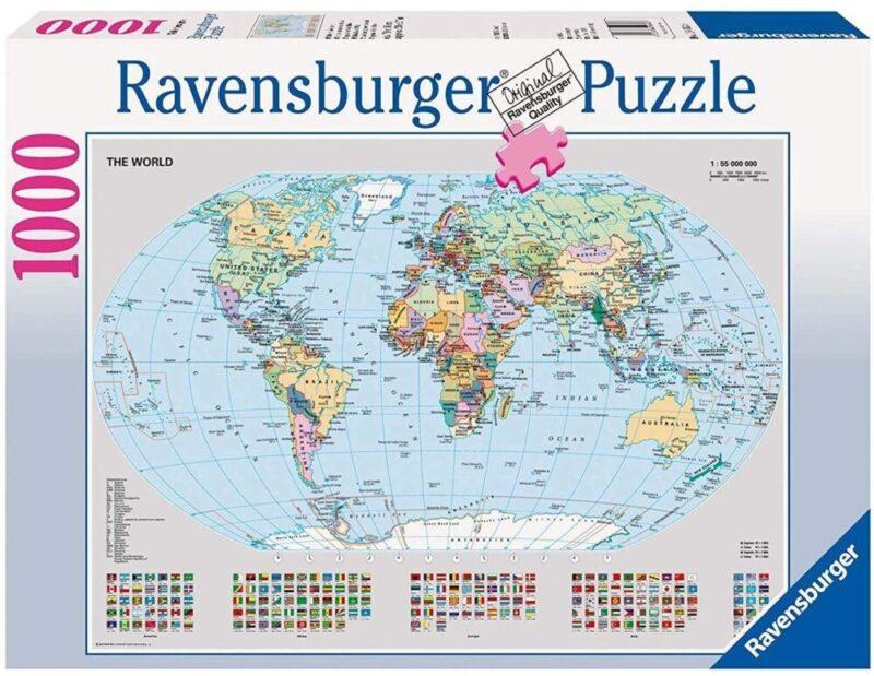 puzzle mappamondo per grandi e bambini viaggiatori